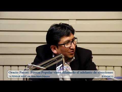 Oracio Pacori: Fuerza Popular viene dilatando el adelanto de elecciones