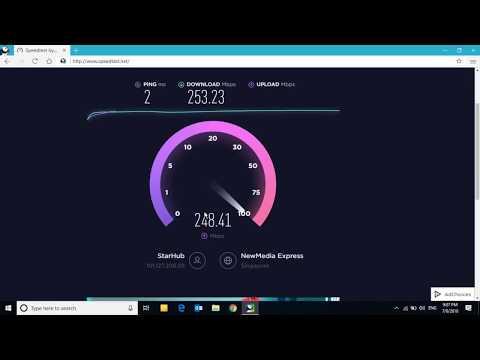 Highest Internet Speed 253 MBPS Internet Speedtest on Okla Speedtest website