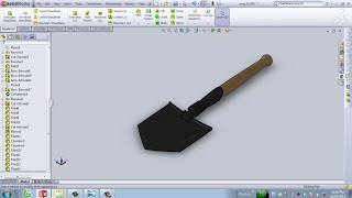 SolidWorks Tutorial : Military Shovel