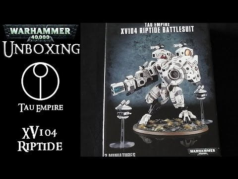 Warhammer 40k: Bausatz Review - Tau Empire: Riptide - Unboxing (Deutsch)