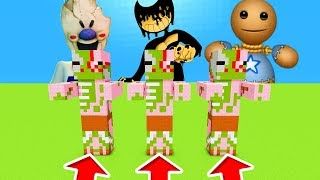 Minecraft PE : DO NOT CHOOSE THE WRONG ZOMBIE PIGMAN! (Ice Scream, Bendy & Kick The Buddy)
