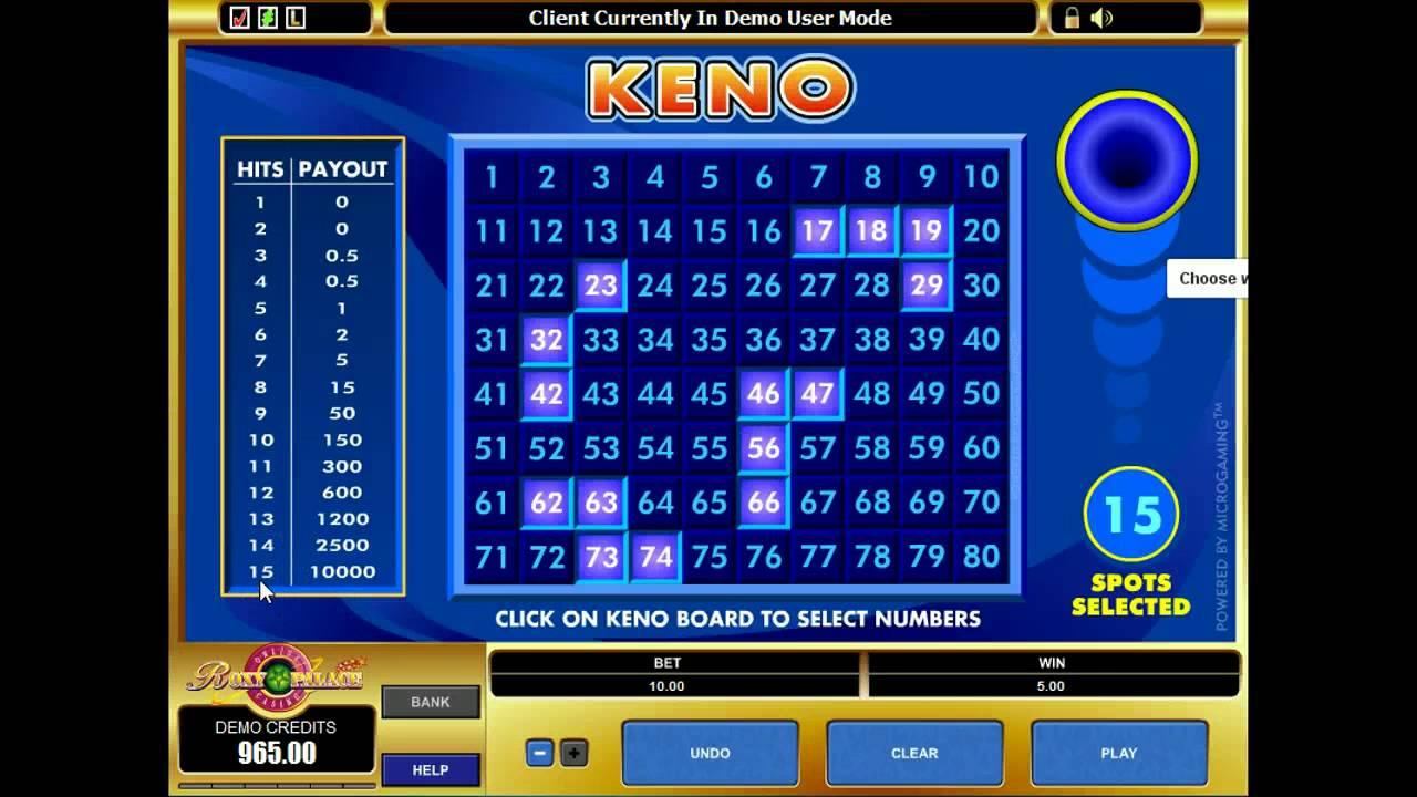 Keno Online