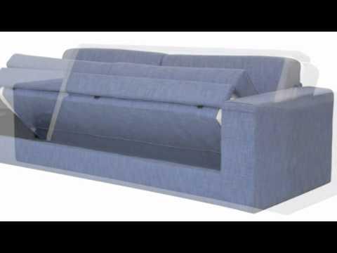 Giwa divano sfoderabile prontoletto singolo struttura in legno di abete modello lia youtube - Divano letto singolo girevole ...