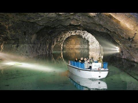 Europe's largest underground lake - Seegrotte, Hinterbrül, Austria