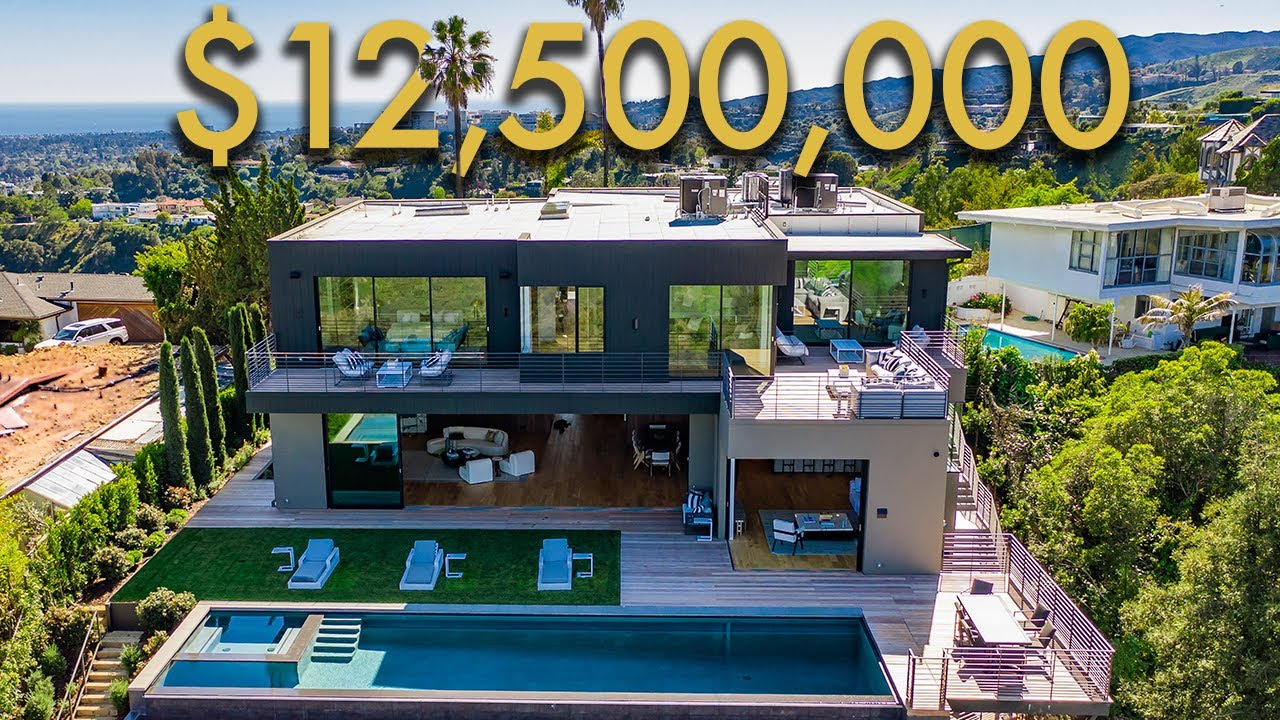 INSIDE a $12,500,000 LOS ANGELES MODERN MANSION with INCREDIBLE CITY VIEWS