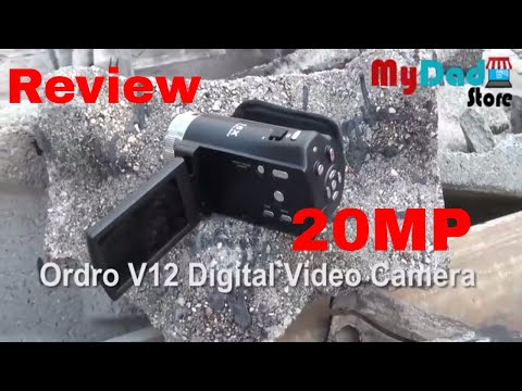 Online Shopping with mydadstore  Review  Ordro V12 Digital Video Camera