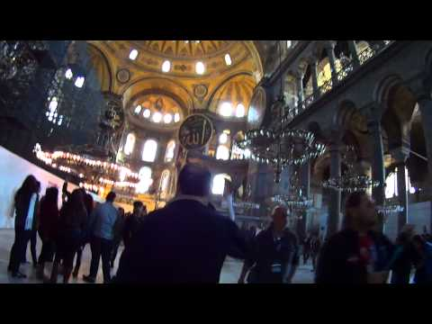 Entering the amazing Hagia Sophia in Istanbul Action Cam HD