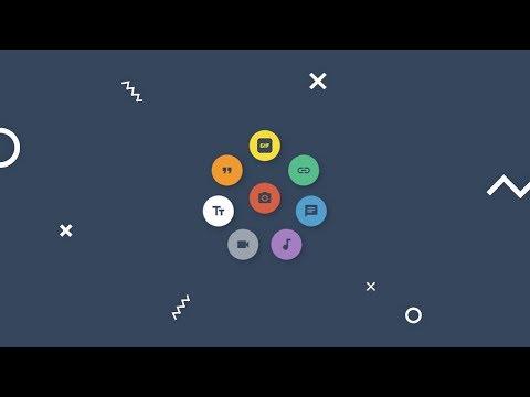 Tumblr Fab Animation | HTML CSS JQUERY