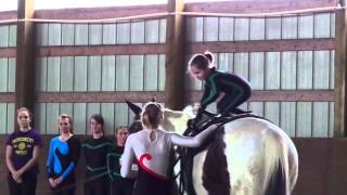 Preston at HPWY vaulting demo with Triple M farm's
