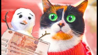 GIVING 100K RUBLES FOR SNOWMAN!