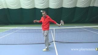 Видео урок по теннису №6