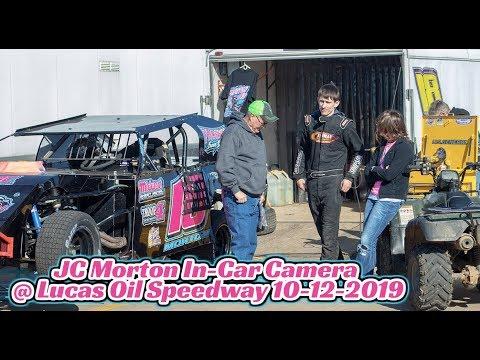 B-Heat #18 JC Morton In-Car Camera B-Heat Race @ Lucas Oil Speedway 10-12-2019