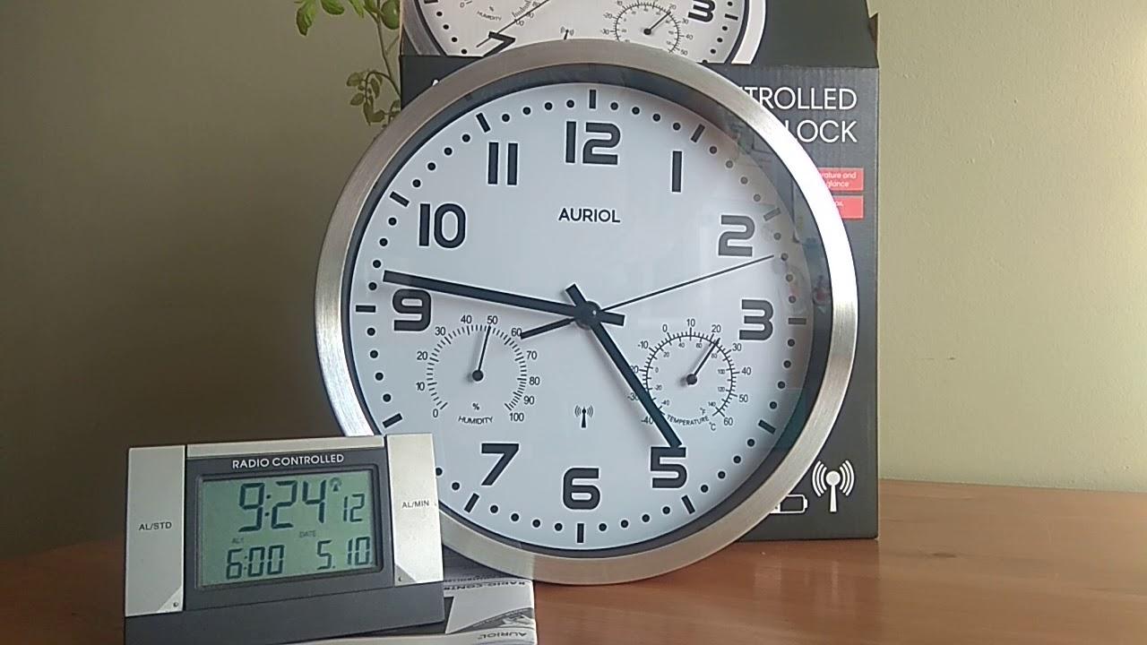 Zegar ścienny Auriol Sterowany Radiowo Dcf77 Z Lidla
