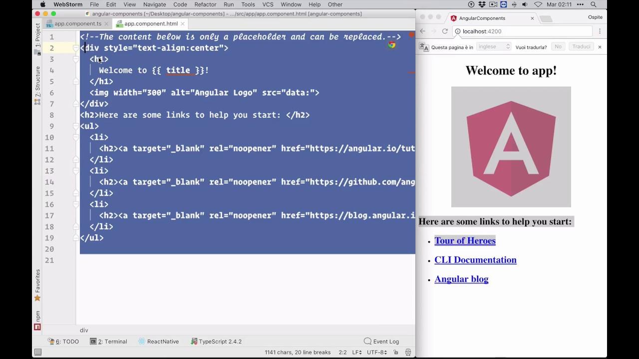 2  Creare un componente Highcharts in Angular 5