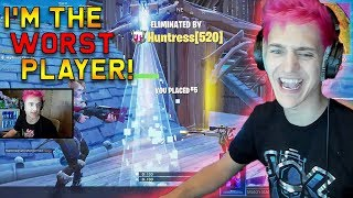 Ninja Says He's The WORST Player in Fortnite Battle Royale! | Fortnite Highlights #86
