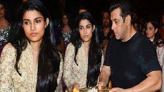 Salman Khan's Niece Alizeh Agnihotri At Arpitas Ganesh Visarjan