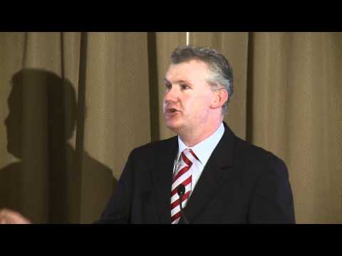 Former Water Minister Tony Burke addresses the Australian Water Association conference
