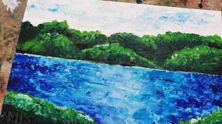 COMO DIBUJAR CON ESPATULA AL OLEO - HOW TO DRAW WITH OIL SPATULA