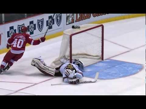 Henrik Zetterberg one-handed shootout goal vs PHX | 01/12/2012 [HD]