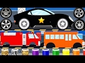 Cars Factory - Police Car, Fire Truck  Car Driving for Kids - Best iOS Game App for Kids
