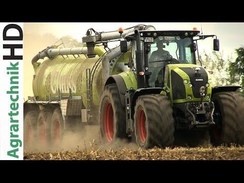 CLAAS AXION 940 Traktor | Kotte Garant Tridemfass | Gülleausbringung | AgrartechnikHD