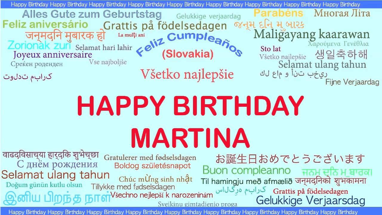 martina happy birthday