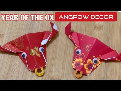 賀年摺紙|-diy-chinese-new-year-of-the-ox-red-packet-decor-|-simple-origami-ox-head-tutorial