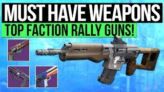 Destiny 2 | MUST HAVE FACTION WEAPONS! - Best Weapons to Grind for in November Faction Rally!!