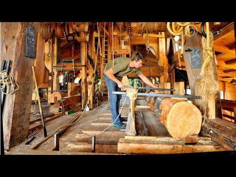 How A Wind Powered Sawmill Works- AMAZING