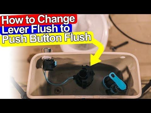 HOW TO CHANGE TOILET HANDLE TO PUSH BUTTON FLUSH - Viva Sanitary Skylo