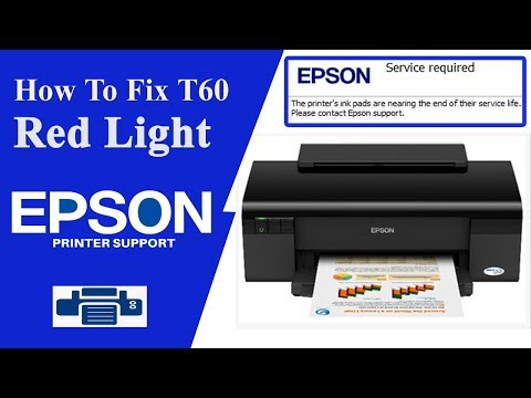 Epson T60 Resetter , T60 service Required