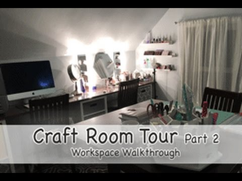 Craft Room Tour 2 Workspace Youtube