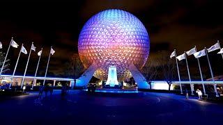 EPCOT 2021 Complete Walking Tour at Night in 4K | Walt Disney World Orlando Florida March 2021