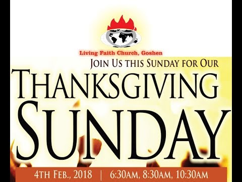 Special Thanksgiving Service for January 2018 ( 2nd Service ) - February 04, 2018