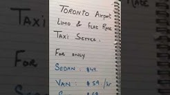 Toronto Pearson Airport Taxi & Limo Rates