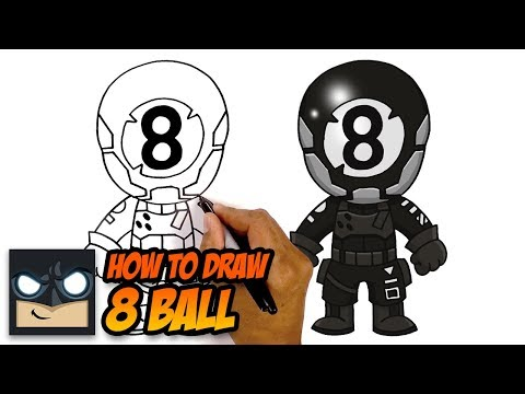 How To Draw 8 BALL | NEW Fortnite Chapter 2 Skin