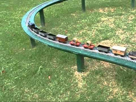 BASSETT LOWKE O GAUGE TYPE 112 LIVE STEAM LOCO AND TRAIN ON MY GARDEN RAILWAY