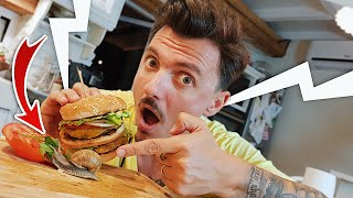 Am MANCAT MelcBurger! Burger din MELCI