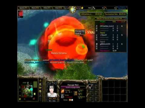 DoF-Warcraft III map Reborn vs naruto 4.6 #2
