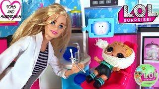 Видео для девочек Барби Доктор Куклы ЛОЛ Сюрприз LOL Surprise Dolls Болит Зуб
