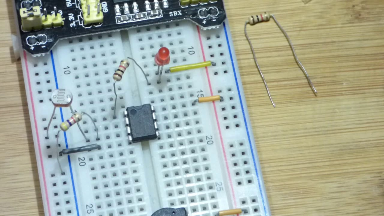 Circuit Easy And Simple Ldr Light Dependent Resistor Youtube