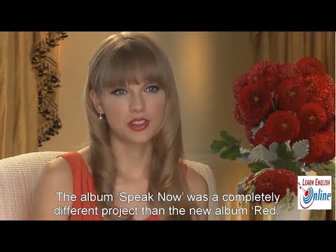 Learn English with Taylor Swift Interview - English Subtitles