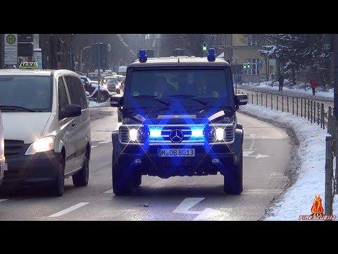 [BKA] Gepanzertes Einsatzfahrzeug mit Blaulicht & Horn auf Einsatzfahrt!
