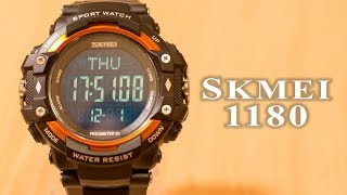 skmei 1180 full review heart rate monitor  pedometer #37