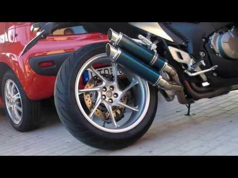 Honda vfr1200f with RAPTOR exhaust