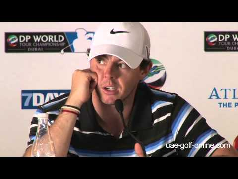Rory MciIroy full press conference before the 2013 DP World Tour Championship, Dubai