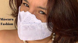 Como fazer uma máscara 3D fashion bordada e fácil com molde