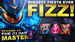 MY BIGGEST DIAMOND FIESTA EVER! FIZZ! - Season 10 Climb to Master | League of Legends