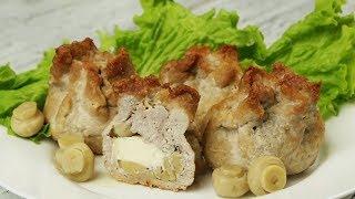 Мясо Сыр, Грибы и пара минут. Обалдеть как вкусно.
