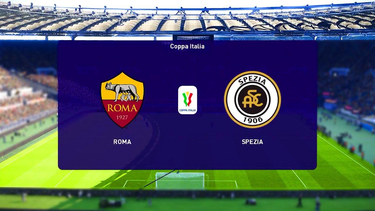 Download ⚽ Roma vs Spezia ⚽   Coppa Italia (19/01/2021)   PES 2021